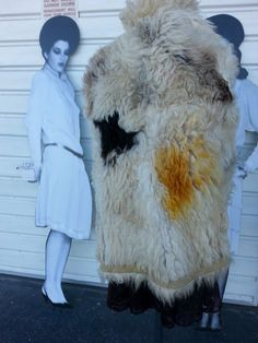 vTG 70s BOHO HIPPIE CREAM SHEARLING SUEDE LAMB FUR LINED TRIM PRINCESS COAT sz M #Unbranded #BasicCoat