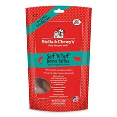 Stella and Chewy's Freeze-Dried Raw Surf and Turf (Beef and Salmon) Dinner Patties for Dogs, 15 oz. >>> More info could be found at the image url.