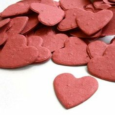 Heart Shaped Plantable Seed Confetti in BRICK RED Value Pack (two 350-piece bags = 700 pieces of seed confetti) null,http://www.amazon.com/dp/B005GW51E2/ref=cm_sw_r_pi_dp_lspktb1BY8BGN0F1