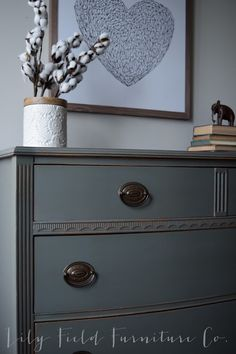 Sherwin Williams Cast Iron Dresser Color Matched by Country Chic Chalk Paint | lily field furniture