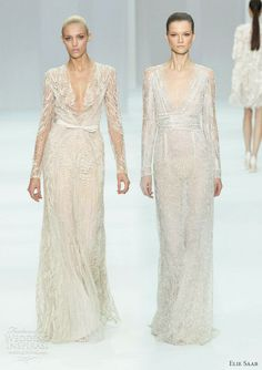 elie saab 2012 bridal - long sleeve wedding dress ideas from the runway