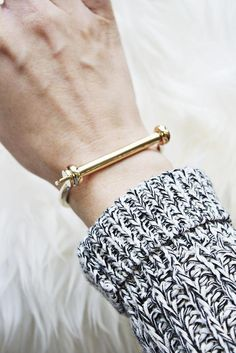 """This the must have Miansai Cuff. Start your collection (and obsession) with this polished version. Dimensions: Measures 2.5"""" across at the widest point. Details: Gold plated. In the world of Miansai,"""