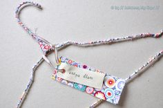 Enhanced wire clothes hanger by // Between the Lines //, via Flickr