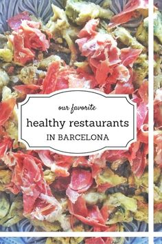 10 Healthy Restaurants in Barcelona Looking for healthy restaurants in Barcelona? The new year is upon us and we are in the mood to eat light and healthy! Check out these wonderful, many organic restaurants in Barcelona. Restaurant Healthy, Bio Restaurant, Healthy Cafe, Organic Restaurant, Healthy Eating, Healthy Recipes, Restaurant Ideas, Barcelona Travel Guide, Barcelona Food