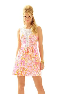 Raegan Fit & Flare Dress - Lilly Pulitzer, Resort White Happiness Is $238, matching girls minnie