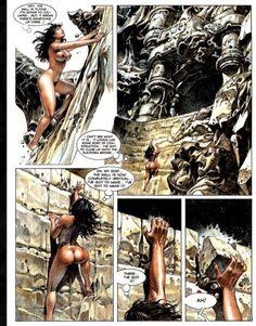 Druuna  Artist: Paolo Eleuteri Serpieri Serpieri, Red Sonja, Pulp Art, Barbarian, Erotic Art, Weird, Sci Fi, Illustration Art, Comic Books
