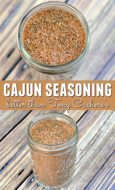 Do you love spicy food and want to make your own cajun seasoning? My recipe for cajun seasoning is better than Tony Cachere's Creole Seasoning! It's easy to make - give it a try. This cajun seasoning recipe is better than Tony Cachere's Creole Seasoning! Homemade Spice Blends, Homemade Spices, Homemade Seasonings, Spice Mixes, Homemade Dry Mixes, Homemade Breads, Dry Rub Recipes, Cajun Recipes, My Recipes