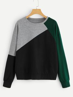 Shop Cut And Sew Drop Shoulder Sweatshirt online. SHEIN offers Cut And Sew Drop Shoulder Sweatshirt & more to fit your fashionable needs. Fashion News, Fashion Outfits, Hoodies, Sweatshirts, Autumn Fashion, Cute Outfits, Couture, Sewing, My Style