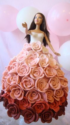 doll cake perfect enough to make a little princesses day!