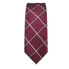 Cravatta Stretta, a motivi fondo rosso