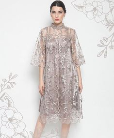 Source by carissasara brokat Dress Brukat, Batik Dress, Lace Dress, Dress Brokat Modern, Kebaya Modern Dress, Hijab Evening Dress, Evening Dresses, Formal Dresses, Simple Dresses