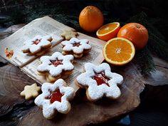 Fursecuri Linzer cu gem de portocale