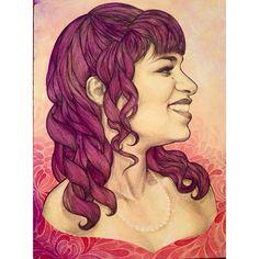Portrait 2015. #art #artist #artwork  #painting #paint #drawing #morganndaniels #illustration #illustrations #ny #nyc #brooklyn #selfie #portrait #springbreak #marchfourth #alohafriday #redhair #bar #snowday #friyay #funkopop #vintagestyle #shorthair #fashionfriday #weallgrow #magic #handlettering #shoplocal #purplehair