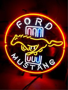 1000 Images About Mustang Logo On Pinterest Neon