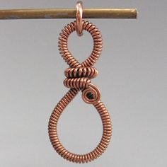 Copper wire pendant by cathy