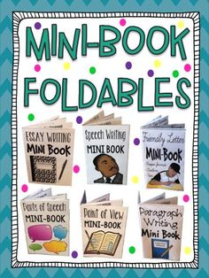 Give students these mini-books, so that students can easily store it in their binders as a reference when completing ANY form of writing. These are also a great reference for parents at home when helping with homework writing tasks