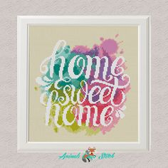 Home sweet home cross stitch pdf Watercolor pattern modern cross stitch Easy Counted Chart diy cross stitch Embroidery Easy cross stitch Cross Stitch Geometric, Cross Stitch Art, Simple Cross Stitch, Modern Cross Stitch Patterns, Cross Stitch Designs, Cross Stitching, Cross Stitch Embroidery, Easy Cross, Pc Cases
