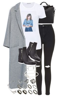 """""""Untitled #7522"""" by nikka-phillips ❤ liked on Polyvore featuring 3.1 Phillip Lim, Topshop, AG Adriano Goldschmied, Zara, ASOS, Balenciaga, Yves Saint Laurent and Humble Chic"""