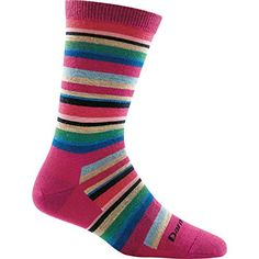 Darn Tough Sassy Stripe Crew Light Sock  Womens Berry Medium * Click image for more details.