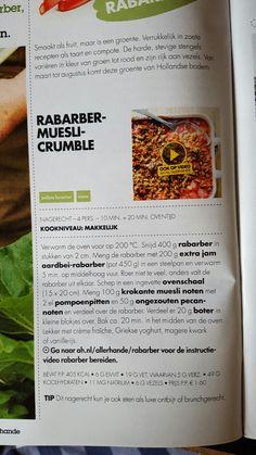 Rabarbermuesli-crumble