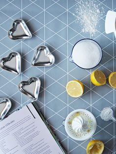 Heart shaped tartlet tins and citrus press by GastroMax