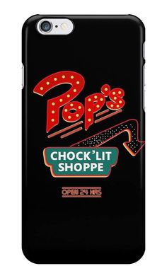 Our Pop's Chock'Lit Shoppe - Riverdale Phone Case is available online now for just £5.99. Fan of the hit Netflix series, Riverdale? You'll love this Pop's Chock'Litt Shoppe phone case, available for iPhone, iPod & Samsung models. Material: Plastic, Production Method: Printed, Authenticity: Unofficial, Weight: 28g, Thickness: 12mm, Colour Sides: Black, Compatible With: iPhone 4/4s | iPhone 5/5s/SE | iPhone 5c | iPhone 6/6s | iPhone 7 | iPod 4th/5th Generation | Galaxy S4 | Galaxy S5 | G