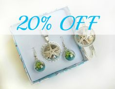 ♥ 100% Handmade UNIQUE jewelry set of necklace, earrings (and bracelet) - Save 20% ♥  *Necklace + earrings instead of $60 just $47.99 *SS Necklace