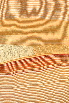 Wangkardu,Helicopter Tjungurrayi, 2001  Wangkardu 2001 depicts some of his traditional country which is located far to the south-west of Balgo in the Great Sandy Desert. This country is known as Wangkardu named for the tjurrnu, or soakwater featured in the centre of the painting. It is also the country of Helicopter's father. It was in this country that Helicopter was born and travelled and hunted as a young man with his family, moving between the different tjurrnu
