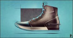 Nike boot sketch render, love the blue coming through