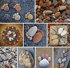 Cute idea for the landscape...rock foot prints