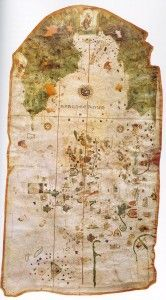 Juan de la Cosa - Turbaco, Colombia, December 1509, Spanish navigator, cartographer, designed the first map of the world that showing the lands discovered in Americas.