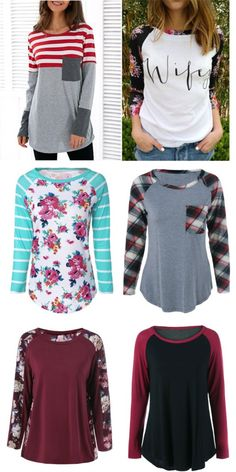 Fashions for Women | Tops blouse long sleeves Tees in Sammydress |