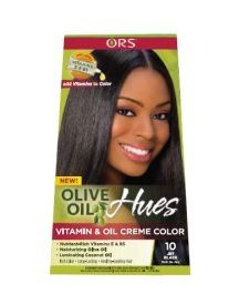 Olive Oil Hues Vitamin and Oil Creme Color -10-Jet Black ** To view further for this item, visit the image link.
