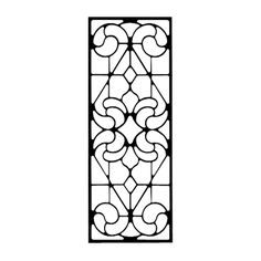 Rectangle Wall Art, durable wrought iron, baked on black satin finish, home decor - Style 205