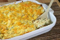 This is a delicious casserole made with leftover ham and mashed potatoes, along with cheddar cheese, chopped celery, and onions. It's an easy everyday family casserole recipe. Leftover Ham Recipes, Thanksgiving Leftover Recipes, Leftover Mashed Potatoes, Easy Potato Recipes, Mashed Potato Recipes, Leftovers Recipes, Thanksgiving Leftovers, Mashed Sweet Potatoes, Holiday Recipes