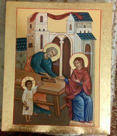 Byzantine Icons, Biblical Art, Catholic Art, Holy Family, Orthodox Icons, St Joseph, Working With Children, Mother Mary, I Icon
