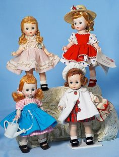 "ALEXANDER-KINS ""WENDY IN ORGANDY DRESS"" #62.8"" Hard Strawberry Blonde Hair, Madame Alexander Dolls, Dollhouse Dolls, Vintage Dolls, Beautiful Dolls, Princess Zelda, Dollhouses, Auction"