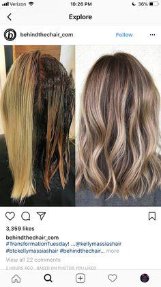 Brown Hair With Blonde Highlights, Hair Highlights, Hair Color Formulas, Cabello Hair, Corte Bob, Beautiful Hair Color, Color Your Hair, Blonde Balayage, Bad Hair