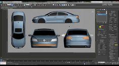 Volkswagen Passat Blueprints  Modeling 3ds max