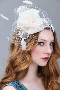 """Faszinator, Headpieces & Fascinators: """"Flower B... von LUXHAIR auf DaWanda.com"""