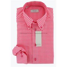 Eton - Eton Shirt - Pink and White Gingham Check