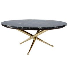 Italian Marble and Brass Coffee Table | From a unique collection of antique and modern coffee and cocktail tables at http://www.1stdibs.com/furniture/tables/coffee-tables-cocktail-tables/