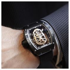 Honey look what daddy bought today! Richard Mille 52-01 Skull Tourbillon TZP bezel and case back nano ceramic carbon nanotubes 18k red gold skull. 30 ever produced. $600k I think I might just keep it. #richardmille #rm52-01 #skull #tourbillon #carbon #tzp #ceramic #titanium #rare #swiss #swissmade #beverlyhillswatch #beverlyhillswatchcompany #beverlyhills #extremewealth #wealth by beverlyhillswatch