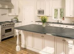 Kitchens, Soapstone Kitchen Countertops Design Cost White Color Picture Kitchen Island Well Grey Color Picture Countertop Brown Color Wooden Stove Picture White Color Kitchen Shelves That Simple ~ Achievable Of Soapstone Countertops Cost That Design With Cool Style As Your Best Kitchen Decoration At Home