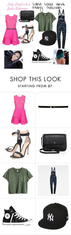 """Lana and Lola loud from loud house  me and bff jada McKenzie"" by maryjsullivan on Polyvore featuring Nine West, Gianvito Rossi, Tory Burch, G-Star Raw, Converse and New Era"