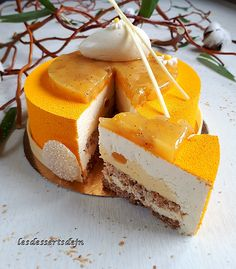 L'ananas 5 Biscuit Coco, Biscuits, Cheesecake, Dairy, Fruit, Glaze, Desserts, Tropical, Velvet