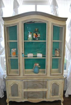 French Provincial China Cabinet By GwynsFoxyNest On Etsy Dining Room