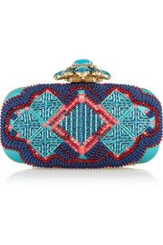 Oscar de la RentaGoa embellished satin box clutch