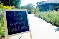 Welcome sign amidst the wildflowers. Indoor Wedding Receptions, Wedding Ceremony, Wedding Venues, Wedding Photos, August Wedding, Native Plants, Beautiful Space, Wildflowers, Happily Ever After