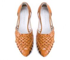 The sara flat  by designer OIive Thomas.Leather. Used to wear something like this in my teens- a classic